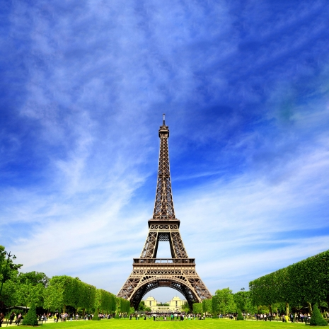 The Eiffel Tower during the day.