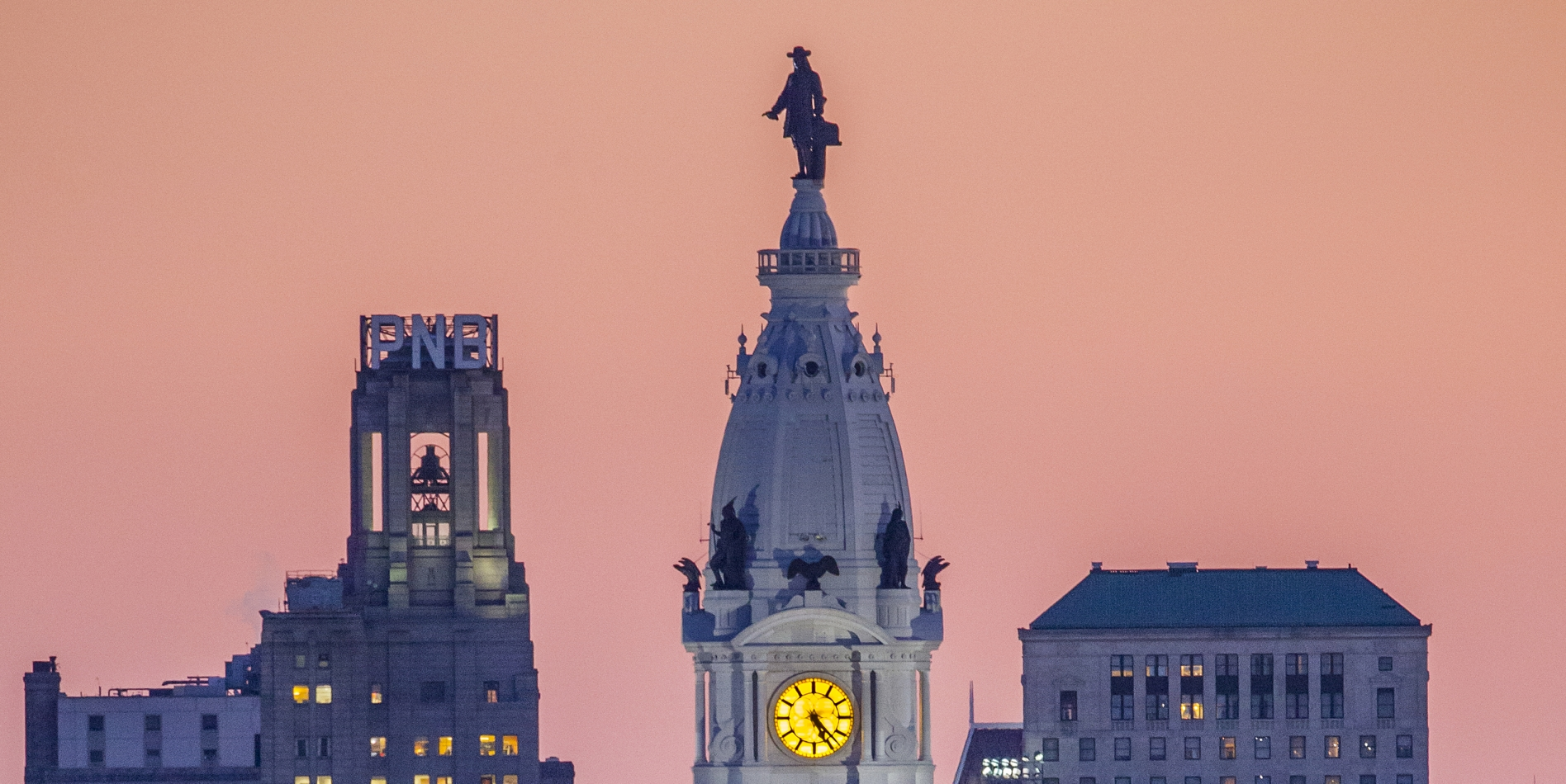 Philadelphia City Hall at Dusk